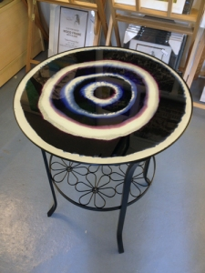 Latest Commission for our Glass Art Tables