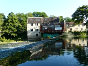 The Old North Mill at Avoncliff during restoration