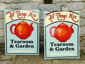 New signs for Terry's Tearoom