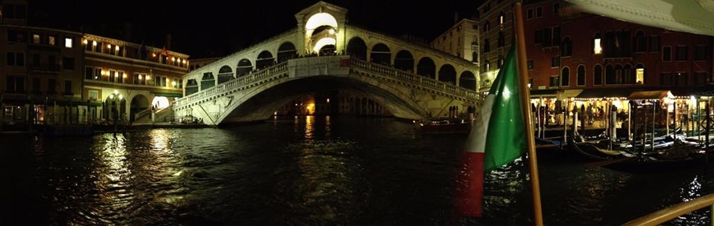 Rialto Bridge, Venice by night