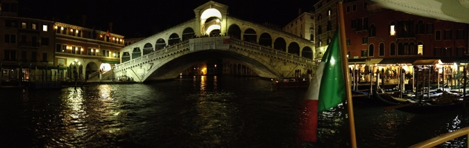 Rialto Bridge, Venice by night