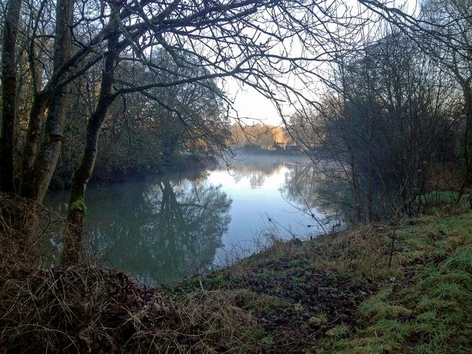 Misty morning on the River Avon at Bradford on Avon