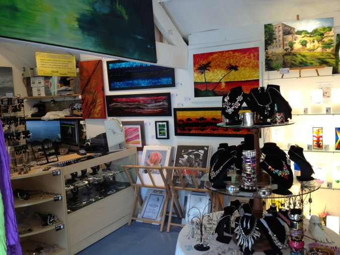 The inside of SerenArts Gallery at the Tithebarn Workshops, Bradford on Avon