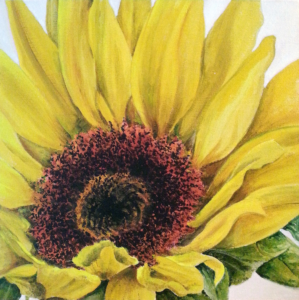 Sunflower by Serena Pugh of SerenArts Gallery, Tithebarn Workshops, Bradford on Avon
