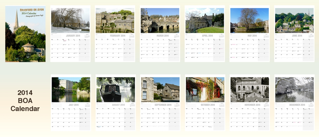 2014 bradford on avon calendar with photographs by Serena Pugh