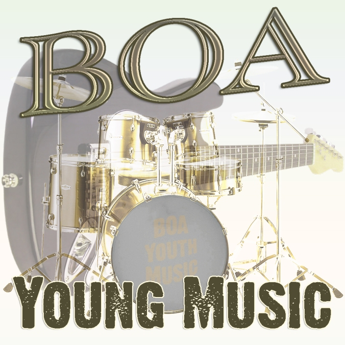 BOA Young Music artwork for logo by Mike Pugh of SerenArts Gallery