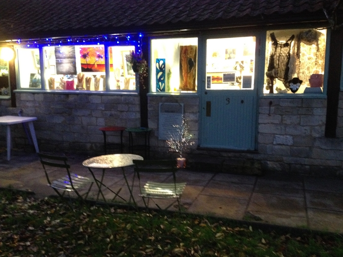 SerenArts Gallery Christmas lights turned on in time for late night shopping on 28th November