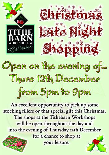 Late Night Christmas Shopping at SerenArts Gallery