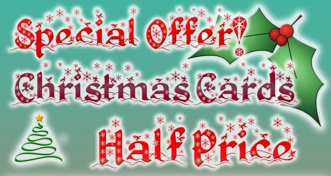 Christmas Card prices reduced by half