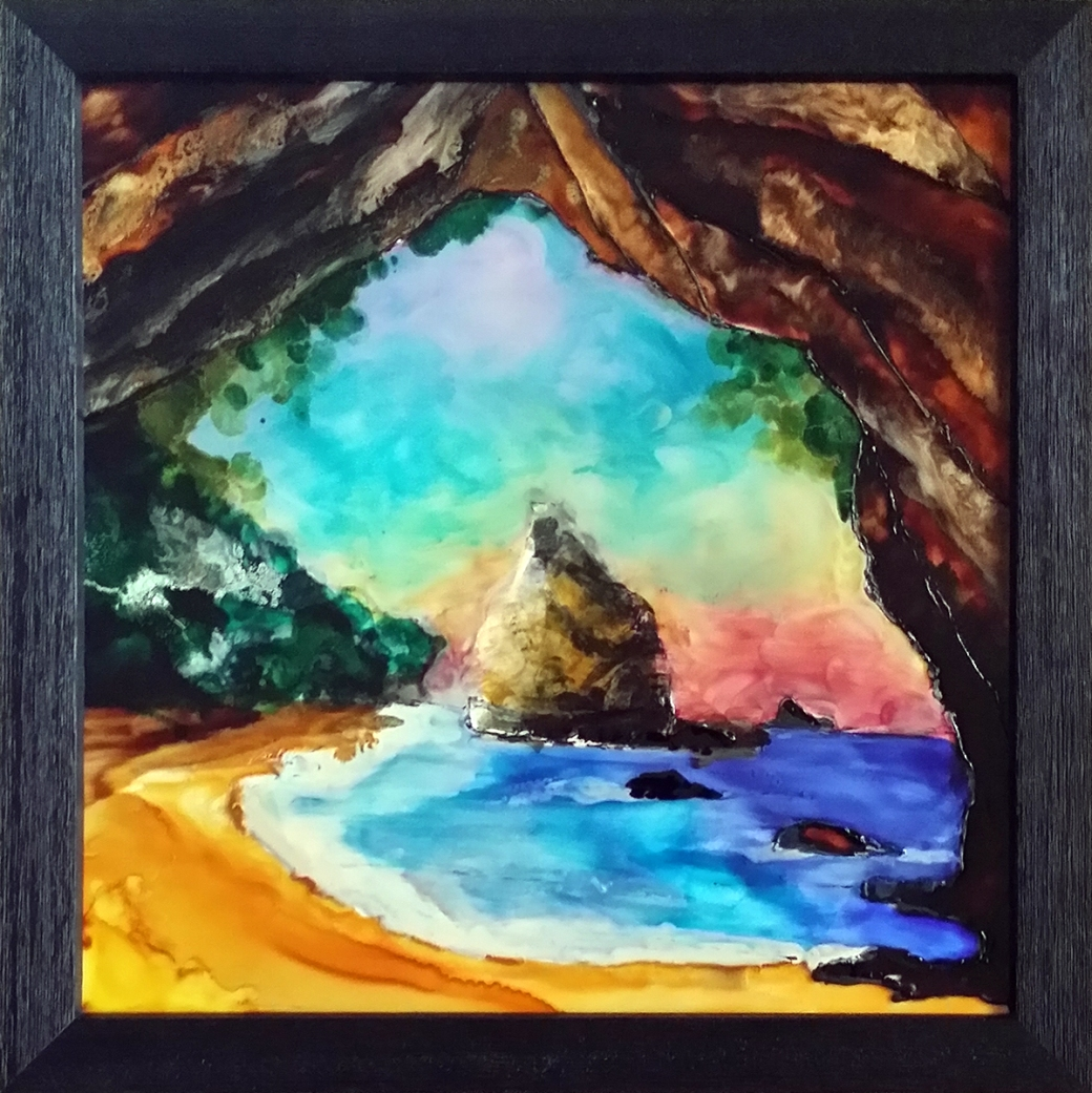 serena pugh glass art - impressionist cove