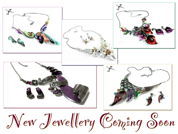 Latest jewellery lines at SerenArts Gallery, Tithebarn Workshops, Bradford on Avon