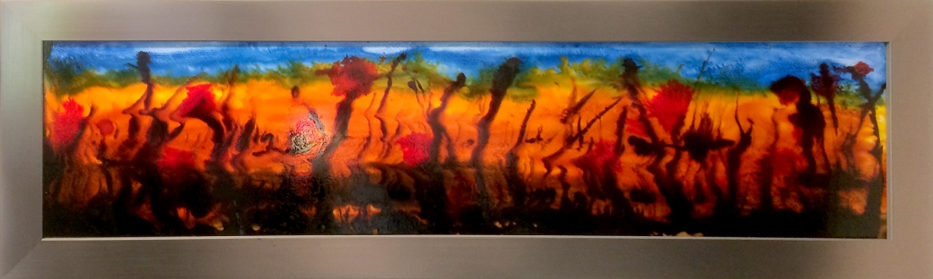 glass art painting bayou dreaming by serena pugh