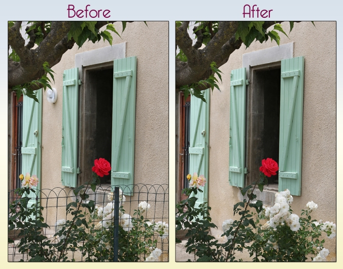 remove unwanted items from photogrraphs