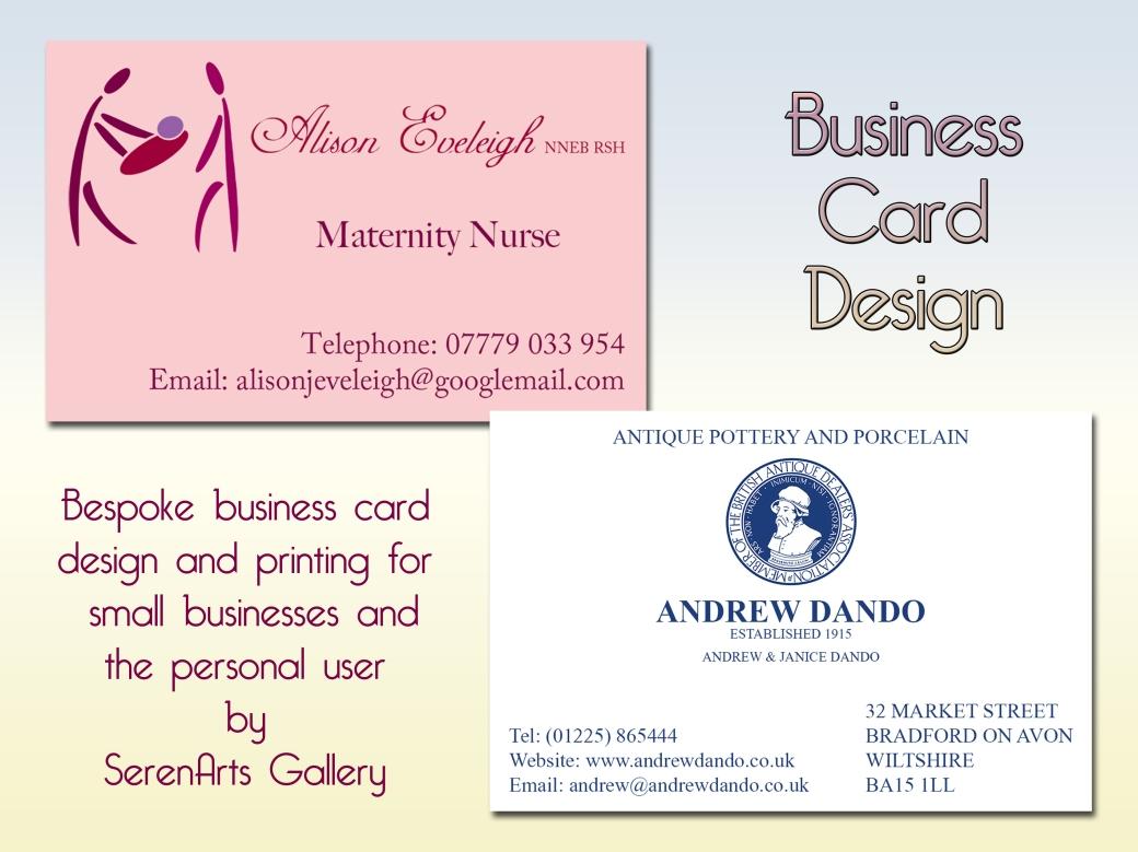 serenarts gallery business card printing