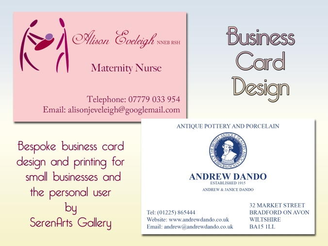 serenarts gallery business card printing