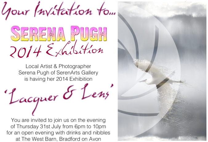 serena pugh 2014 exhibition invitation