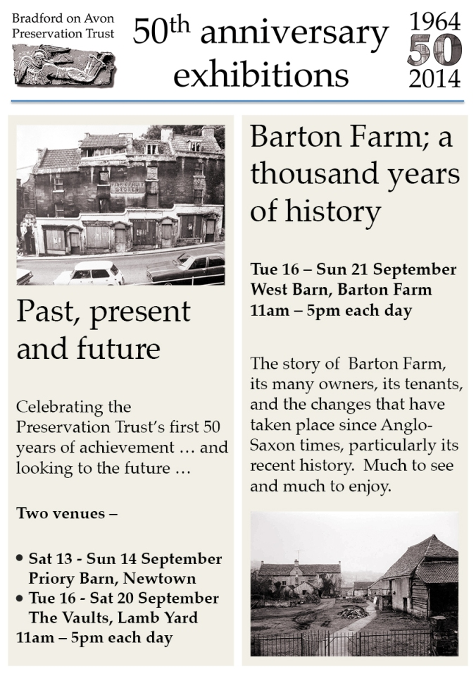 50th anniversary of the bradford on avon preservation trust