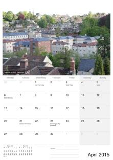 SerenArts Gallery 2015 Calendar of Bradford on Avon with photographs by Serena Pugh