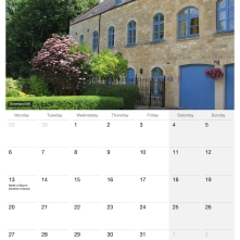 SerenArts Gallery 2015 Calendar of Bradford on Avon with photographs by Serena Pugh