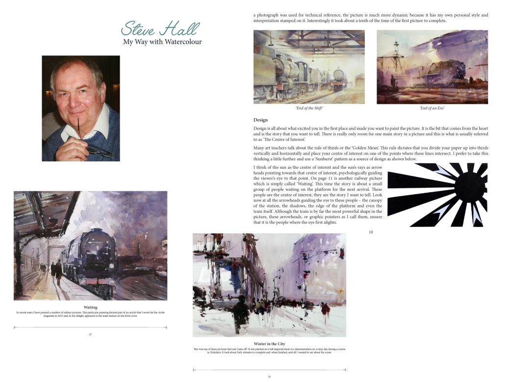 steve-hall-my-way-with-watercolour - book design by serenarts gallery