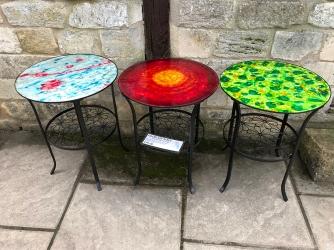 serenarts gallery glass art tables