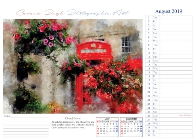 009 serenarts gallery 2019 calendar aug