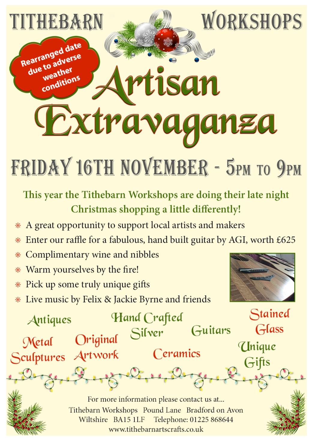 artisan extravaganza tithebarn workshops