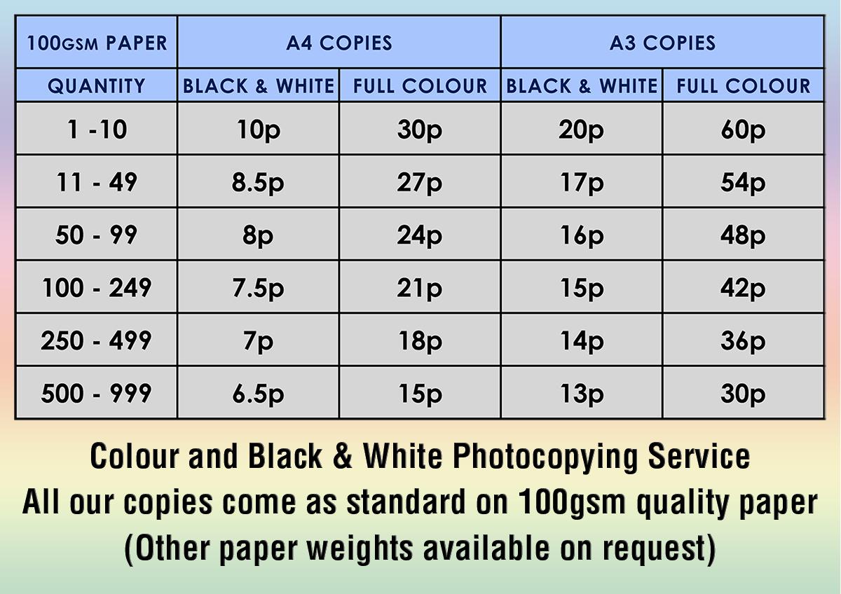 serenarts gallery photocopying service