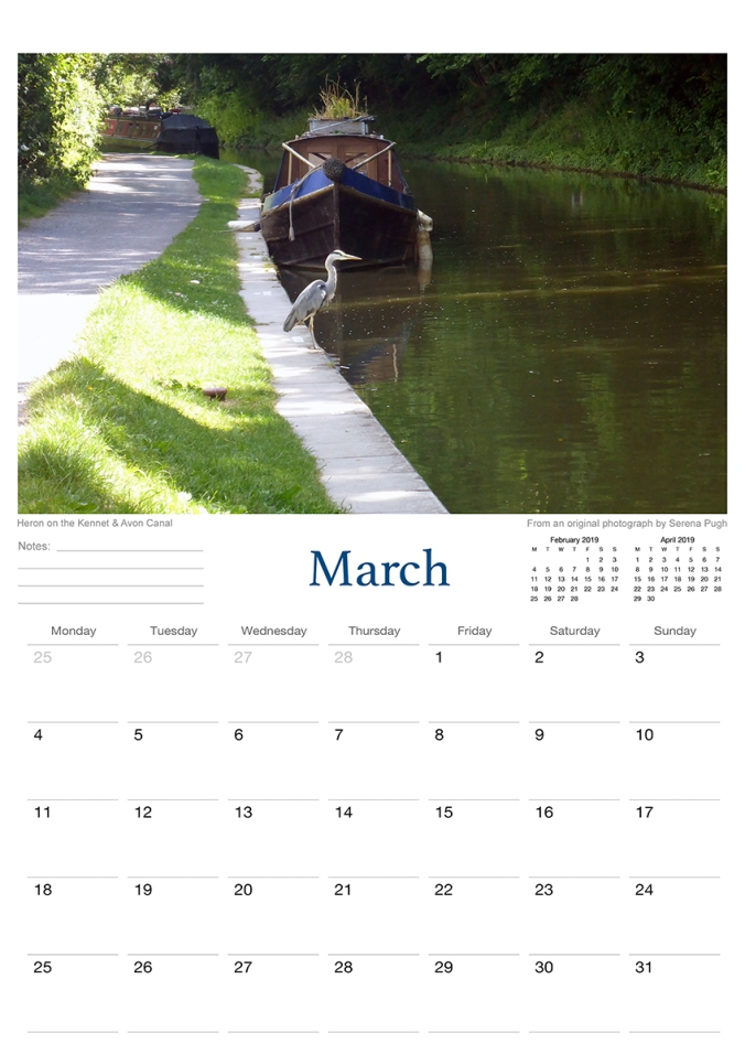bradford on avon 2019 calendar from serenarts gallery