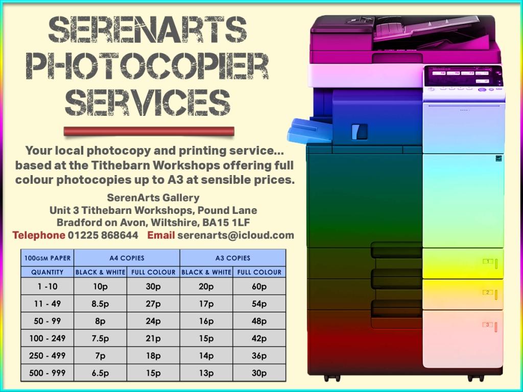 serenarts gallery photocopying services