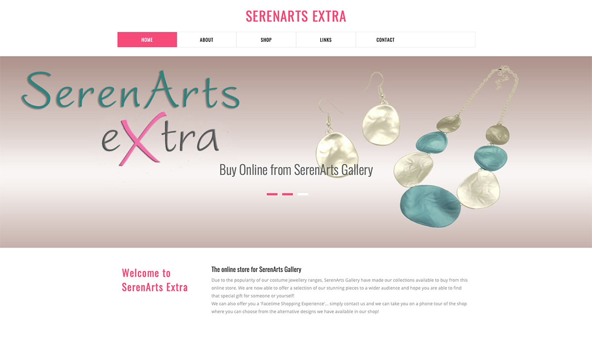 serenarts online jewellery shop
