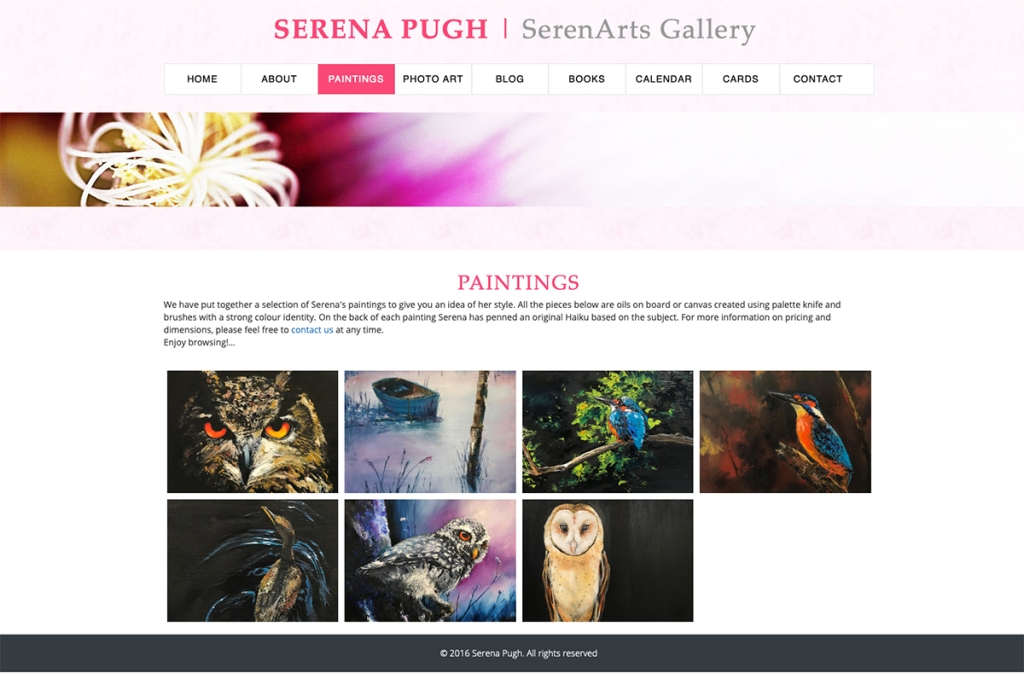 serena pugh at serenarts gallery