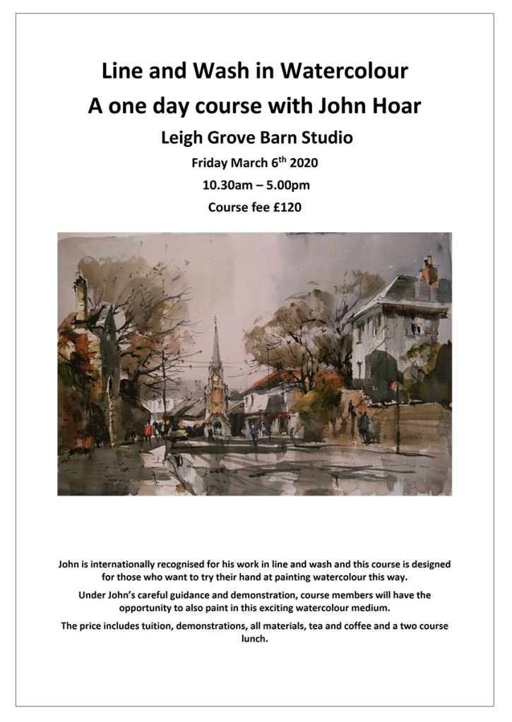 Steve Hall watercolour course with Jon Hoar