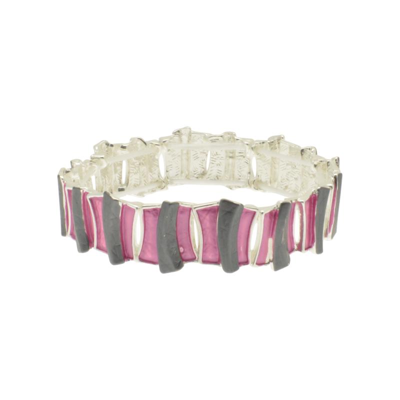 Grey & Pink Bar Bracelet