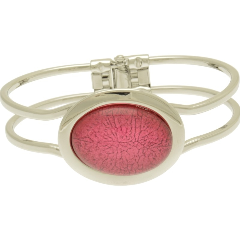 Pink Marble Resin Bracelet