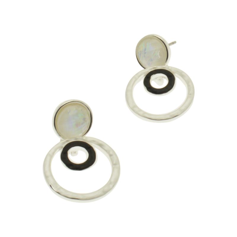 Monotone Disc Earrings