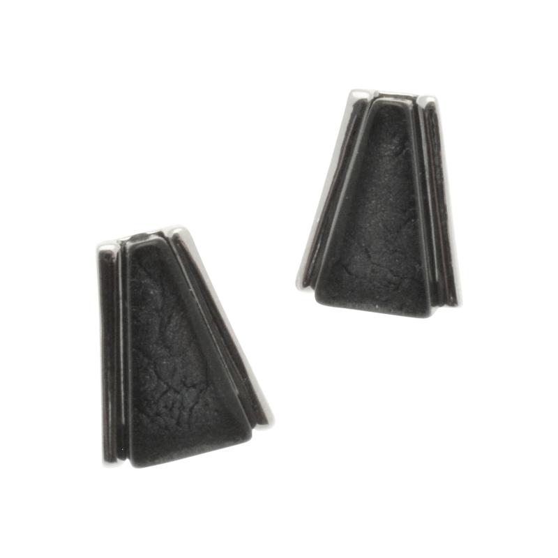 Grey Art Deco Earrings