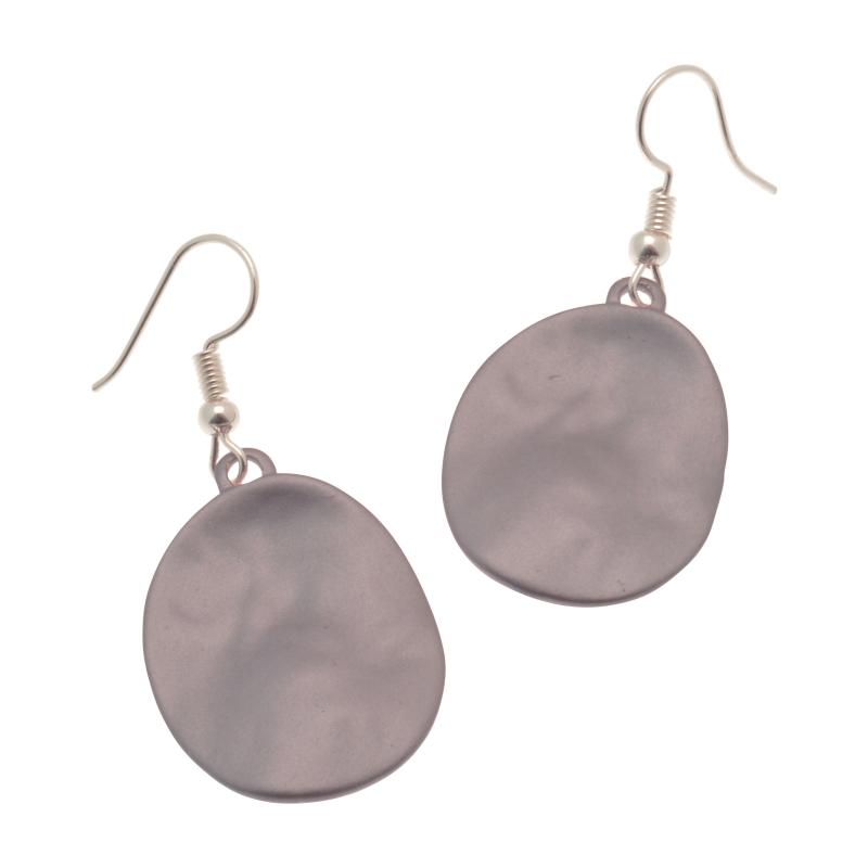 Purple Disc Earrings