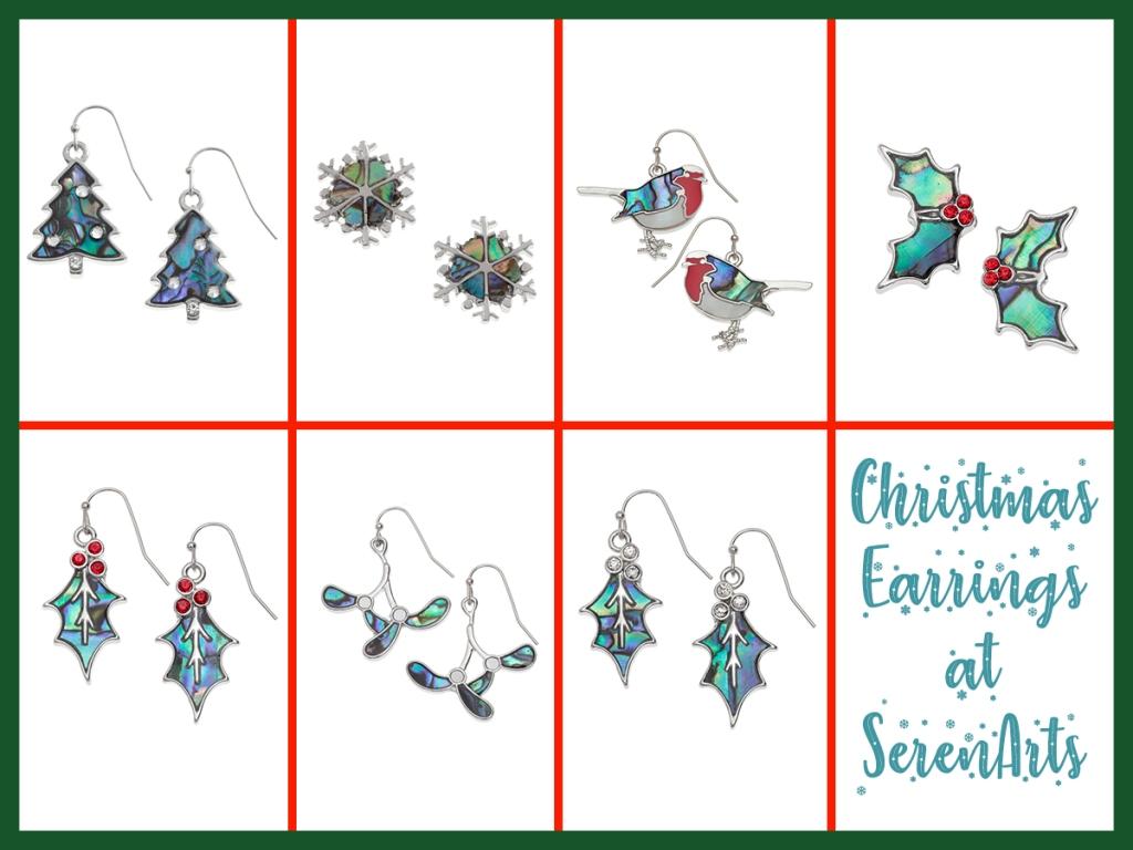 serenarts gallery christmas earrings