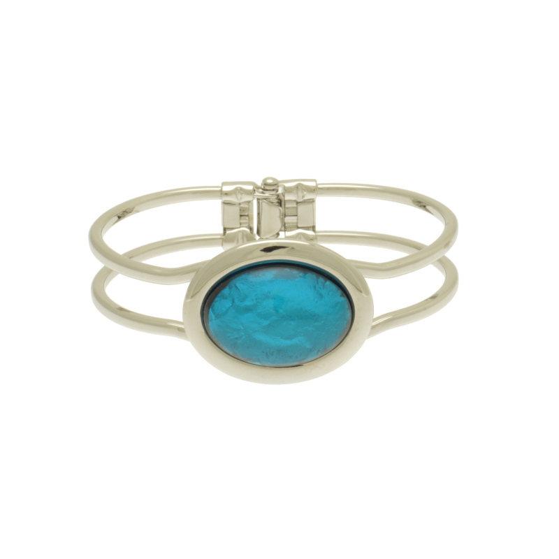 Aqua Foil Bracelet