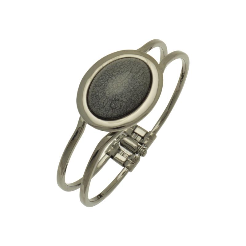Grey Foil Bracelet