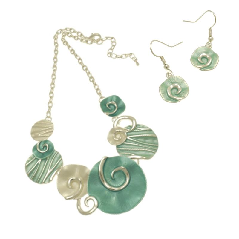 Aqua Shell Necklace Set