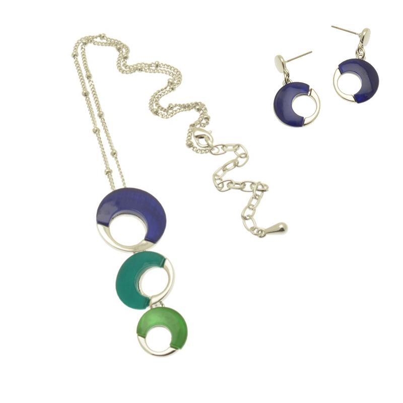Sea Shell Blue Necklace Set