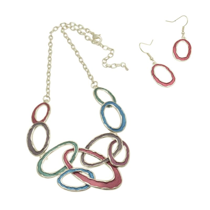 Link Multi Colour Necklace Set