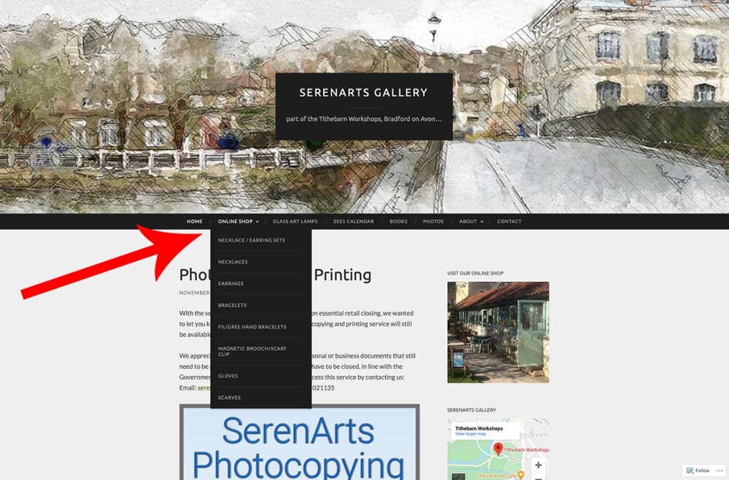 serenarts gallery online click and collect shopping