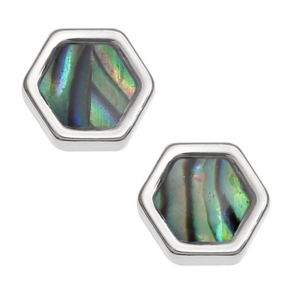 Honeycomb Paua Shell Earrings