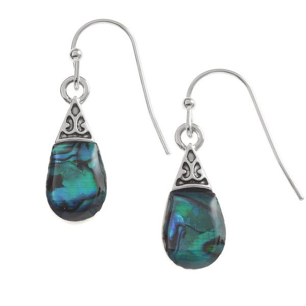 Pear Drop Paua Shell Earrings