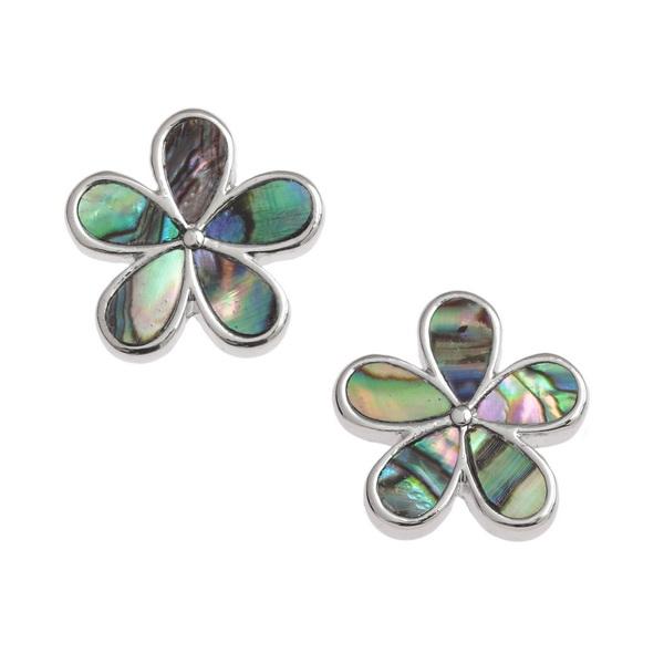 Flower Petal Paua Shell Earrings