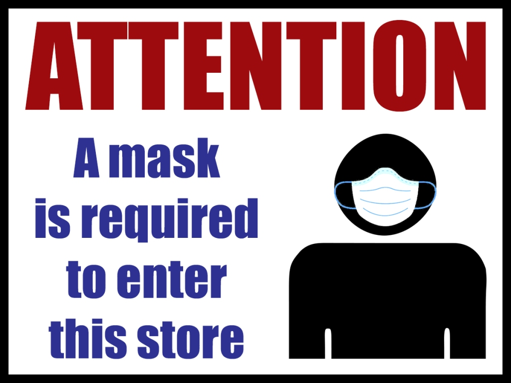 serenarts printing mask sign