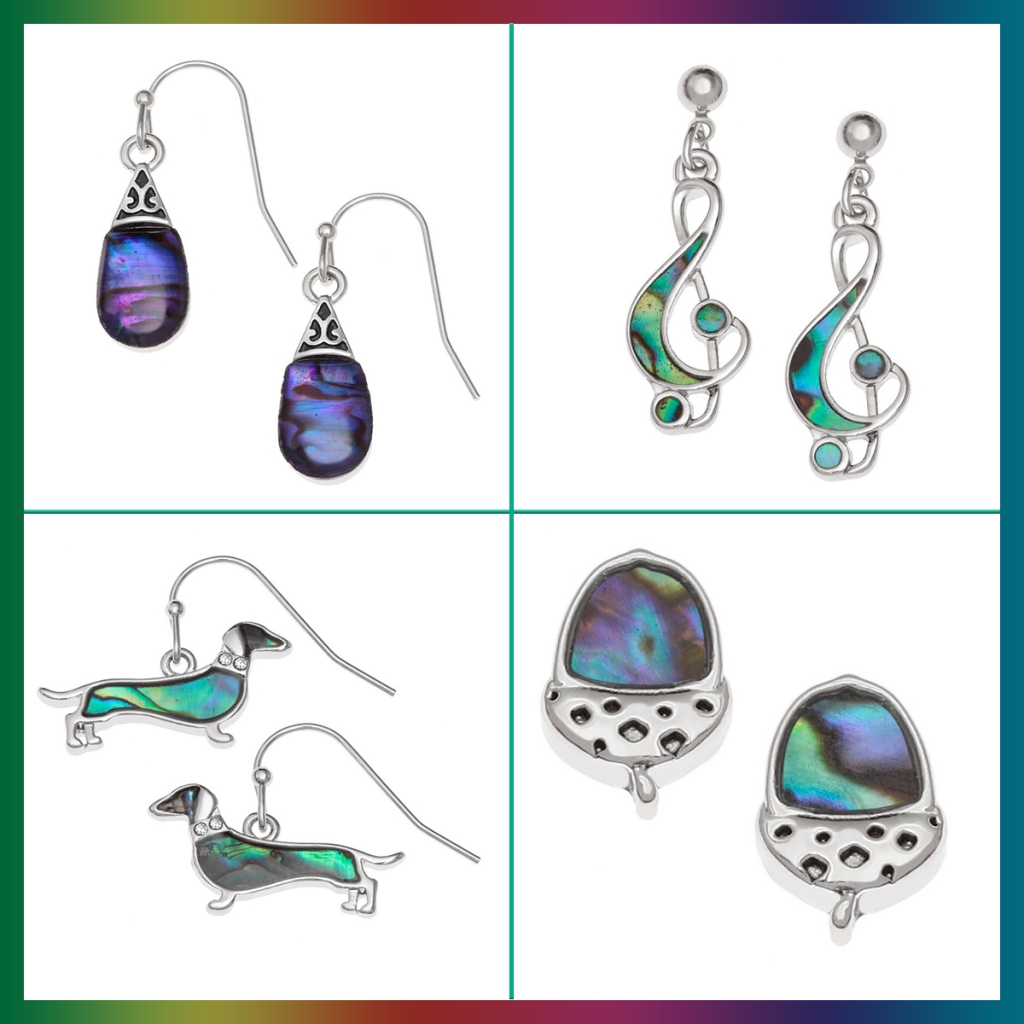 serenarts gallery paua shell earrings